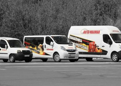 Auto Maxmar – projekt i oklejenie floty samochodów