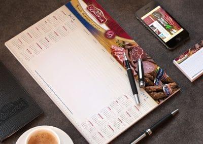 Balcerzak – podklad, kalendarz biurkowy, projekt, druk