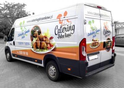 Catering Palce Lizać, Lubuskie Smaki – projekt, druk i oklejenie samochodu