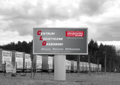 Centrum Logistyczne Grabowski – billboard, konstrukcja, projekt, druk