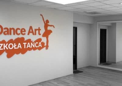 Dance Art - logo-przestrzenne - projekt, wykonanie, montaż