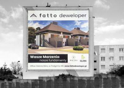 Fatto - projekt, druk i montaż siatki reklamowej