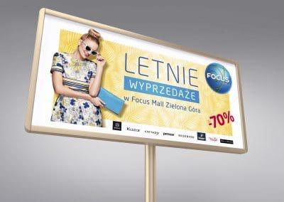 Focus Mall Zielona Góra – projekt billboardu, plakatów, ulotek oraz projekty internetowe
