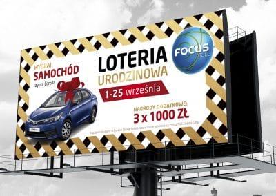 Focus Mall Zielona Gora – projekt billboardu i calej serii reklam