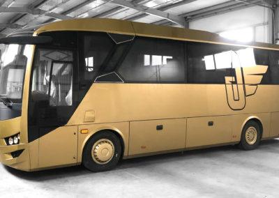 Goldenbus - oklejenie autobusu