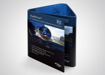 JZO – prezenter soczewki EyeDrive – projekt, druk