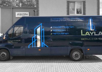 Leyla - projekt i oklejenie busa