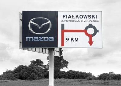 Mazda Fiałkowski – billboard, projekt, montaż