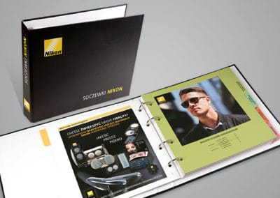 Nikon - projekt i druk katalogu