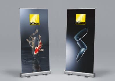 Nikon - roll-upy - projekt i druk
