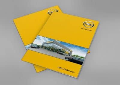 Opel Fiałkowscy – teczka, sesja fotograficzna, projekt, druk
