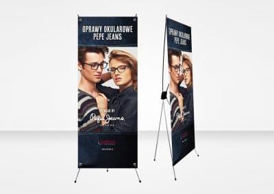 Optikos, Pepe Jeans – x-banner, projekt, druk