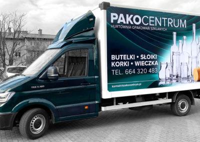 Pakocentrum - projekt i oklejenie busa
