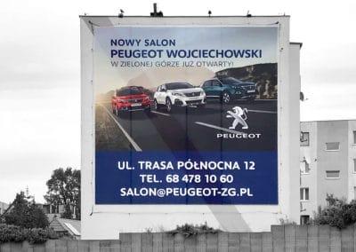 Peugeot - siatka reklamowa - druk i montaż