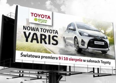 Toyota – projekt i druk billboardu