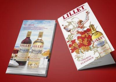 Wyborowa Pernod Ricard, Lillet – ulotka DL, projekt, druk