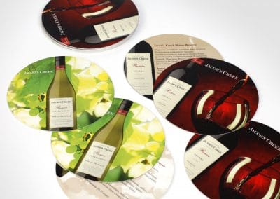 Wyborowa Pernod Ricard – podkładki pod kieliszki, projekt, realizacja