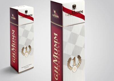 Wyborowa Pernod Ricard – projekt opakowania kartonowego do szampana G.H.Mumm